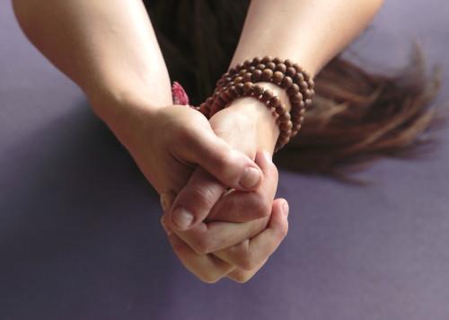 Hands Clasped in Mudra