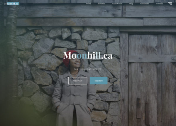Moonhill website screenshot